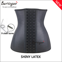 Women waist trainer latex corset supply steel boned shapers puls size waist shaper for ladies wholesale cheap