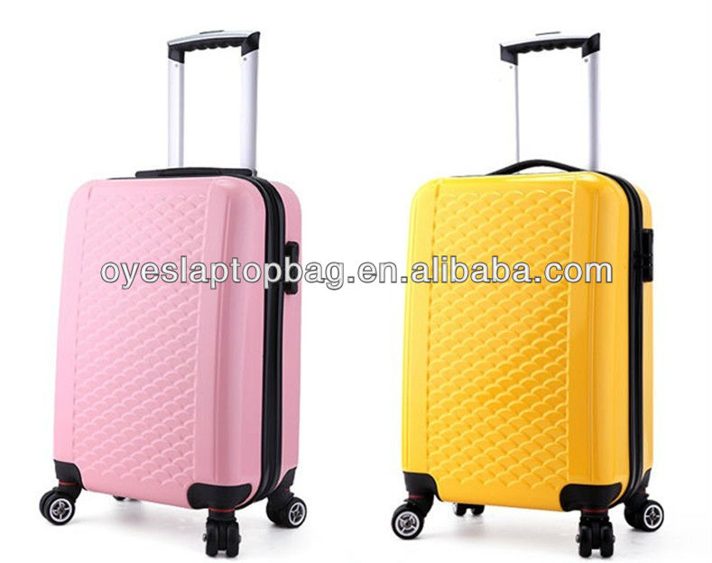 fish scale design travel trolley luggage bag