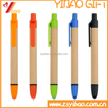 Cheap paper stylus pen eco ballpoint and capacitive touch pen for ipad
