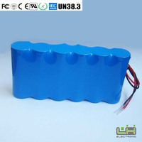 lithium battery pack 11.1V 6600mah 18650 li-ion battery for e-bike