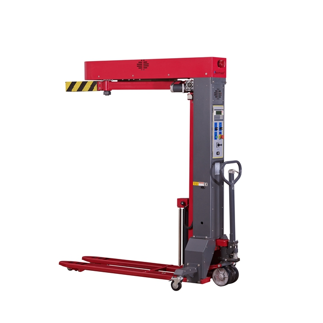 PLC control mobile forklift pallet wrapping machine with good price