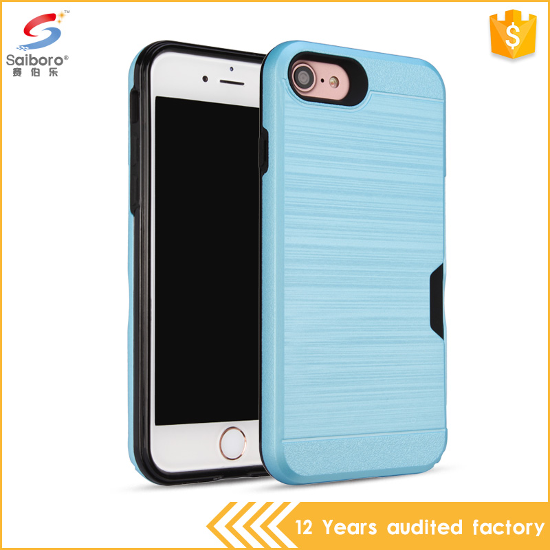 Alibaba express china credit card slot tpu pc hard back cover for iphone 7 7 plus
