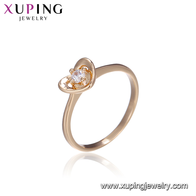 15026 Hot sale promote price high quality ladies jewelry heart shape wedding finger ring with crystal