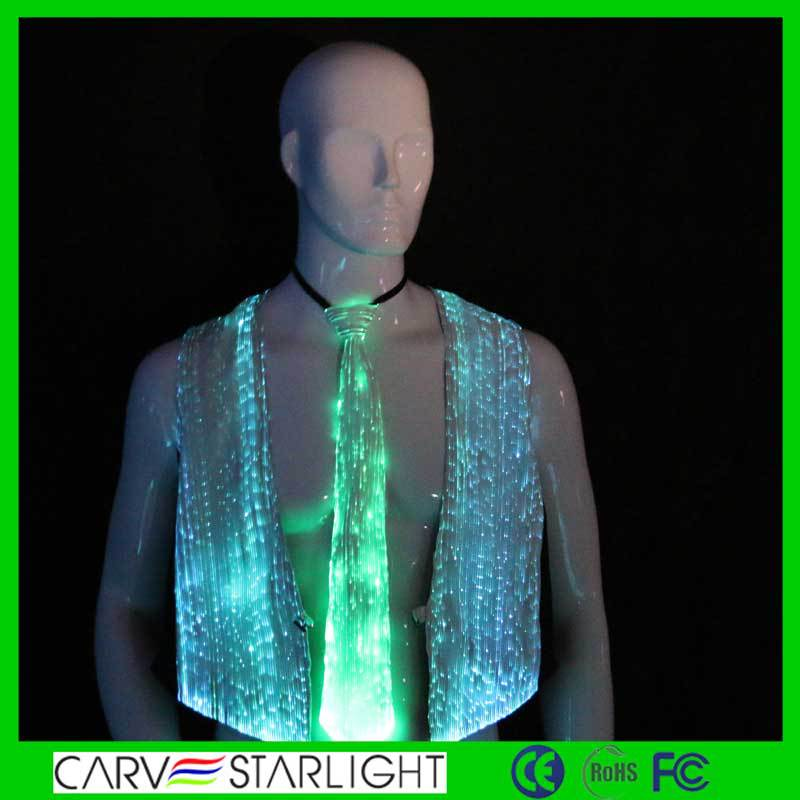2017 Fashion led optic fiber luminous fashion neck ties