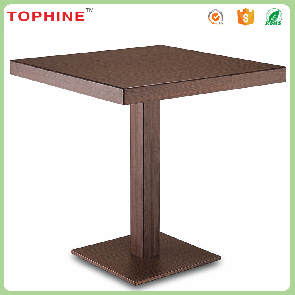 Hotel outdoor metal small dining square coffee table