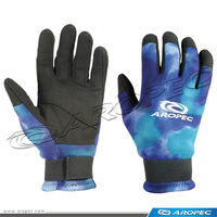 2mm Blue camofluge Neoprene/Amara glove