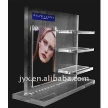high quality creative perspex a4 acrylic cosmetic display