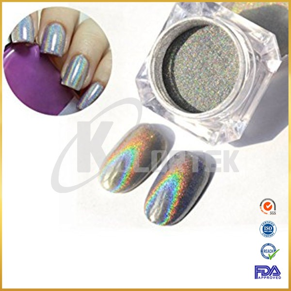 Rainbow effect super unicorn powder pigment for nail polish, holographic pigment for nail
