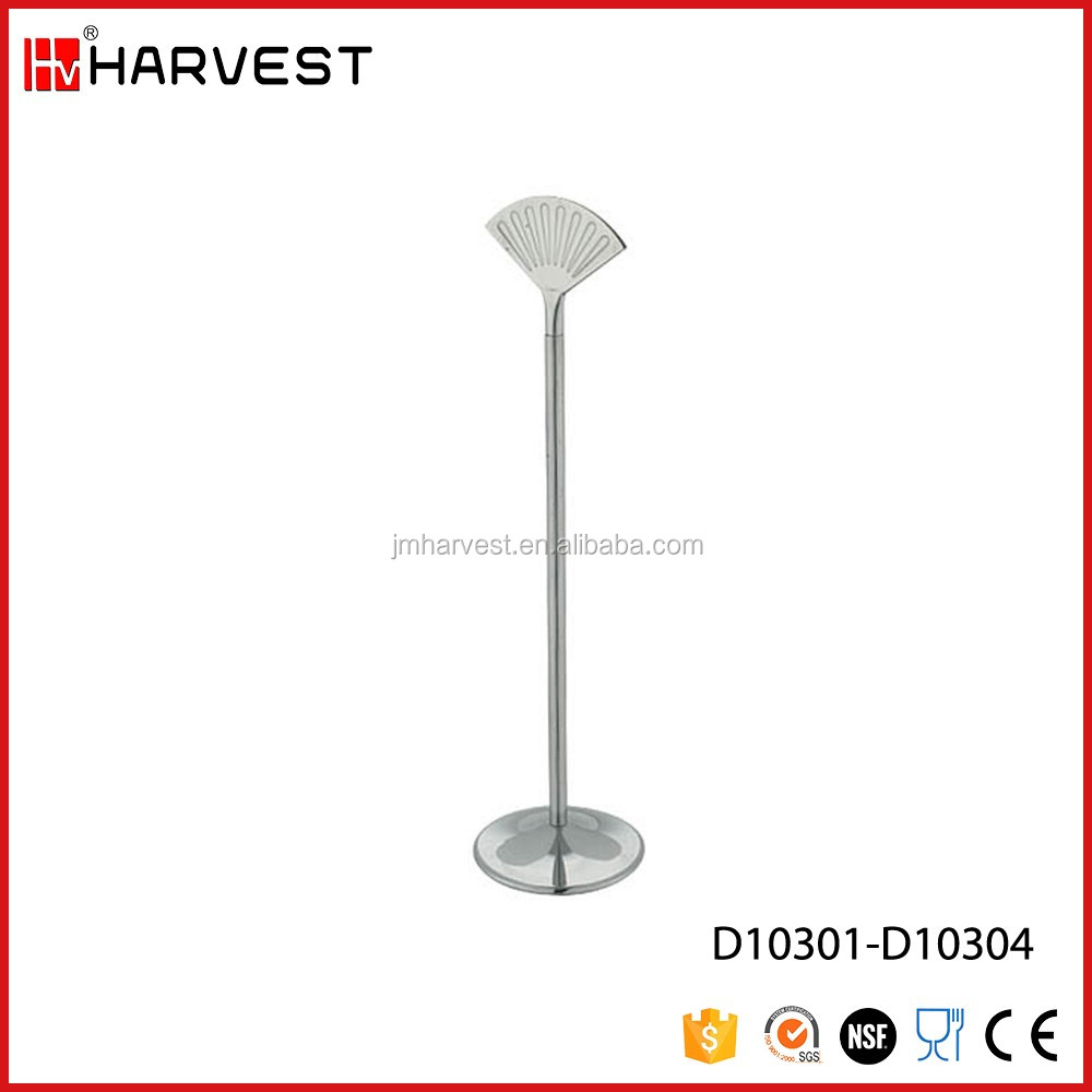 Stainless Steel Restaurant Table Place Menu Card Holder with Round Base Stand