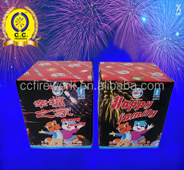 China manufacturer 16s 25s 49s 100s Happy Family cake fireworks prices
