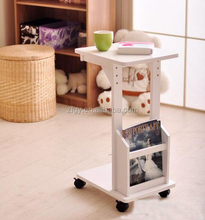 Wooden side end table with Magazine rack
