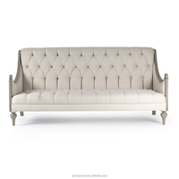 Workwell hot sales French style fabric sofa antiqued finish living room sofa