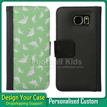 For S6 Edge custom Case Wholesale,Leather Case For Samsung Galaxy S6 Edge with personality design
