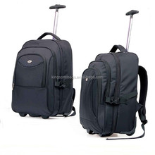 China Factory Waterproof Laptop Trolley Bags,Wheeled School Trolley Backpack, Nylon fashion rolling backpack