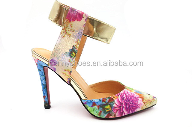sexy summer high heel slingback shoes special flower material elegant women sandals
