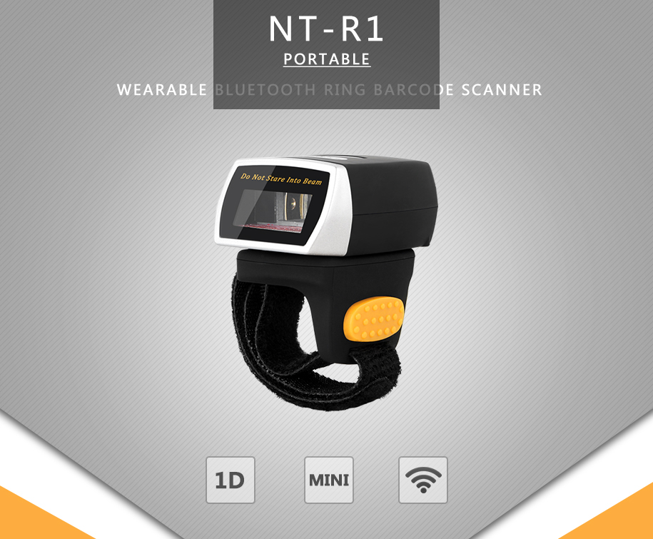 NETUM Wireless 1D BT Barcode Scanner for IOS and Android