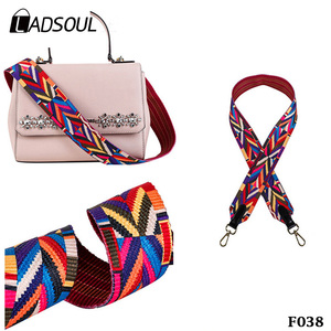 Ethnic Style Bag Accessories Printing Colorful Canvas Shoulder Strap