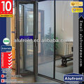 Morden Style Aluminum Frame Bi Folding Door with Accordion Screen