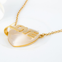 simple designs women love 18k gold plated heart necklaces
