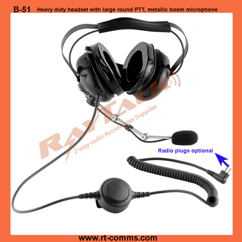 Reduced headband force Heavy duty Headset earphone & headphone Noise cancelling Microphone for Motorola CP040