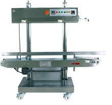 CBS-1100V heavy duty model stainless steel vertical continuous band sealer plastic bag sealing machine
