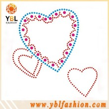 High Quality Hotfix Acrylic Stone Sticker Heart Design For Girl Dress