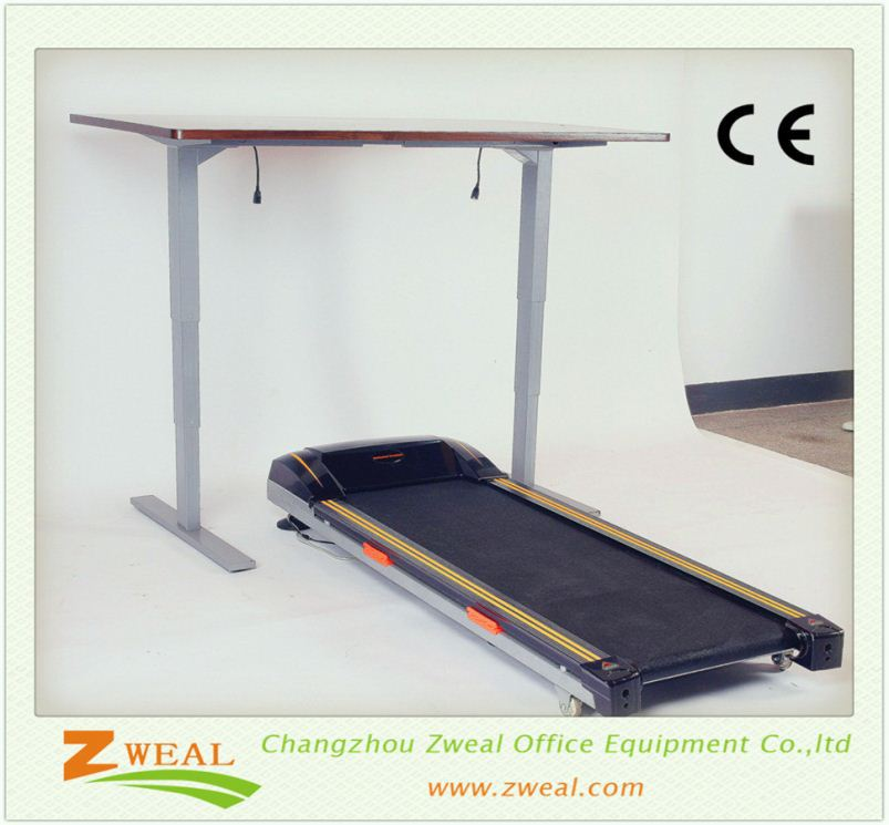 front office design changzhou ergonomic sit stand desk frame commercial adjustable laptop table