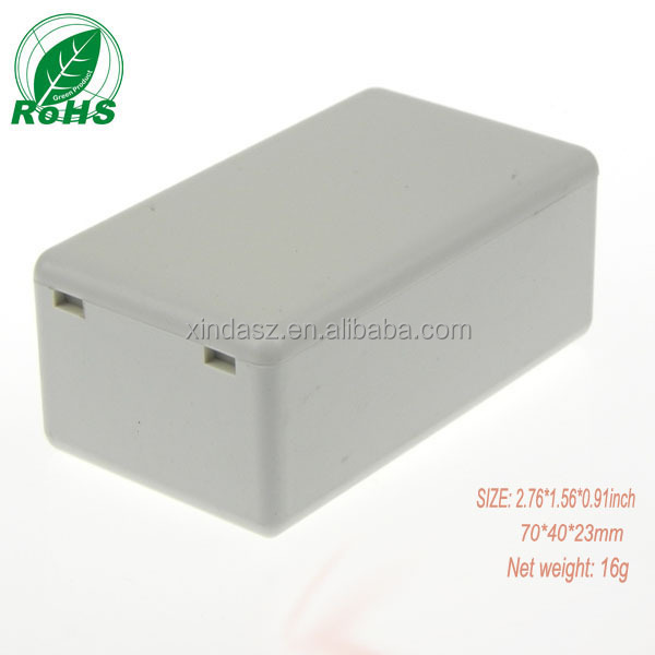 Plastic housing abs swith housing for pcb board 70*40*23mm instrument electronics box plastic enclosure project box