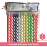 top manufactory beautiful colorful fancy birthday candle