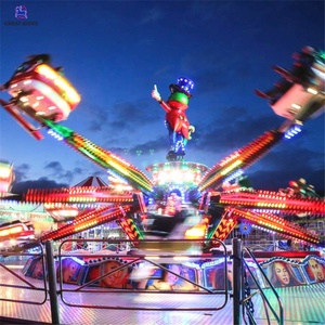 Carnival games old amusement park rides 30 seats rotary jumping bounce machine for sale