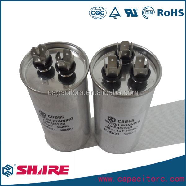 CBB65 450V 35uf SH Oval Screw Capacitor Motor Run Air Conditoner Capacitor