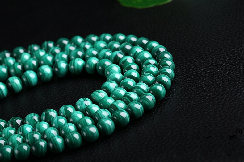 Malachite naturelle vert pierre brins Malachite perles pour collier