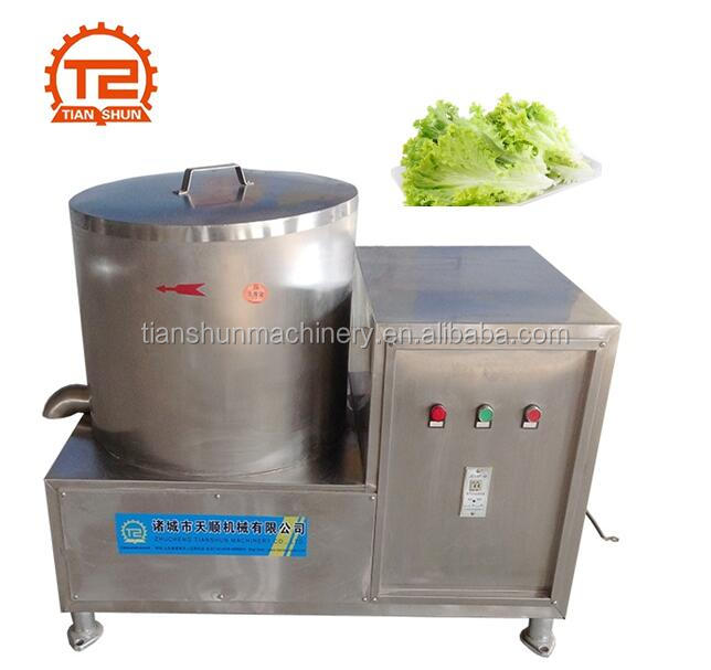 Fruit and vegetable dewatering machine and drying machine
