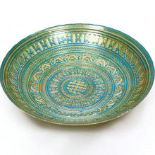 Wholesale Decorative Antique Embossed Glass Fruit Plate Bowl