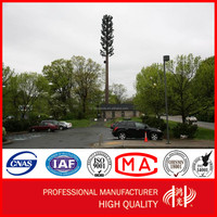 Galvanized Cell Phone Mobile Signal Pole Self- support Monopole Tower