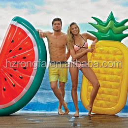 Water Sports Play Equipment Bali Island Life Raft Giant Inflatable Watermelon Pineapple Float Pool Float 1pc MOQ