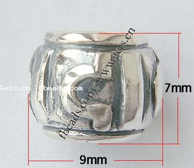 Thailand Sterling Silver Drum Sterling Silver Clip Beads 183407