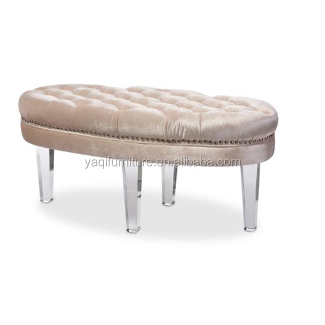 Soft Dressing Room Storage Bench Gallery Oval Relax Chair Mall Waiting Room acrylic Sofa