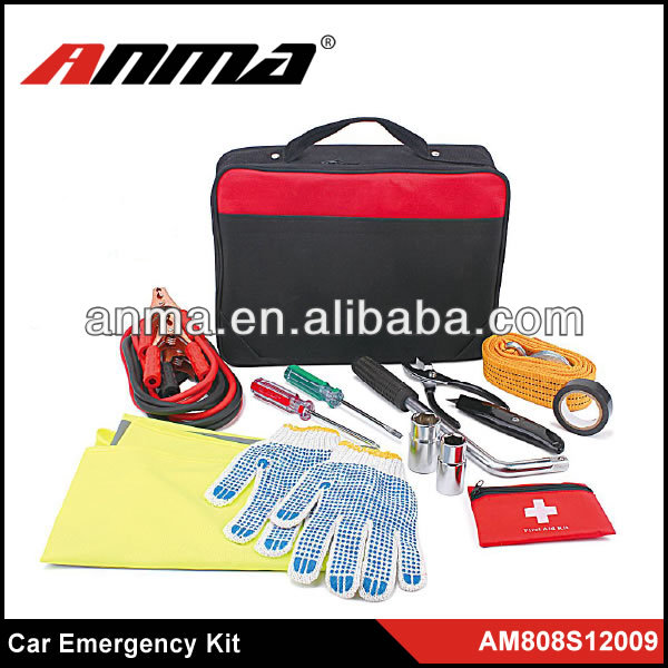 car roadside emergency with first aid kit /popular auto emergenecy kit/ roadside emergency kit factory