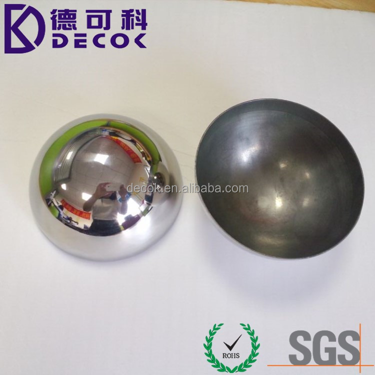 high grade 51mm 63mm 76mm 100mm large metal half sphere