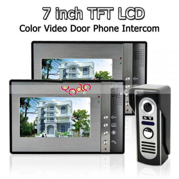 SY802M Video Door Phone Intercom-2 Monitor 1 CCD Camera