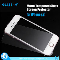 In Stock Anti Glare Screen Protector for iPhone SE 9H Hardness 2.5D Round Edge Tempered Glass