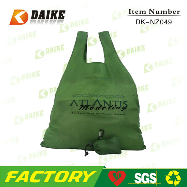 Custom Cheap Reusable Custom Nylon folden shopping bag