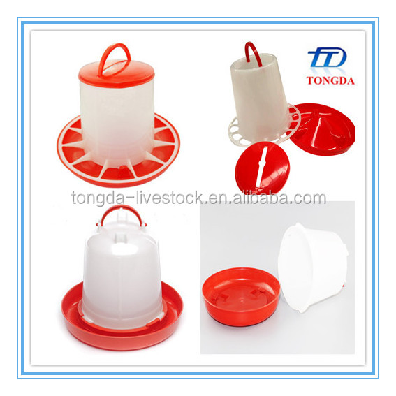 Plastic duck/turkey feeders