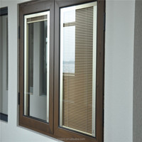 Blind inside double glass window sliding window materials