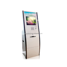 22 Inch A4 Laser Printing Kiosk With Thermal Ticket Printer And RFID Card Reader Payment Kiosk