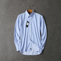 Custom made Men's slim fit shirt striped cotton long sleeve shirt