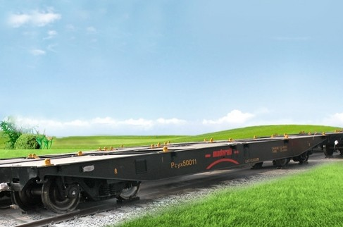 Container Flat Car for Madagascar Container Flat Railway Wagon for Container