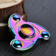 Metal Rainbow Color Hand Spinner High Speed EDC Fidget Spinner for Relieving ADHD, Anxiety, Stress and Boredom
