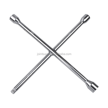 "14"" x 14mm 4 way cross car lug nut wrench / cross wheel brace nut wrench 17mm 19mm 21mm 1/2"